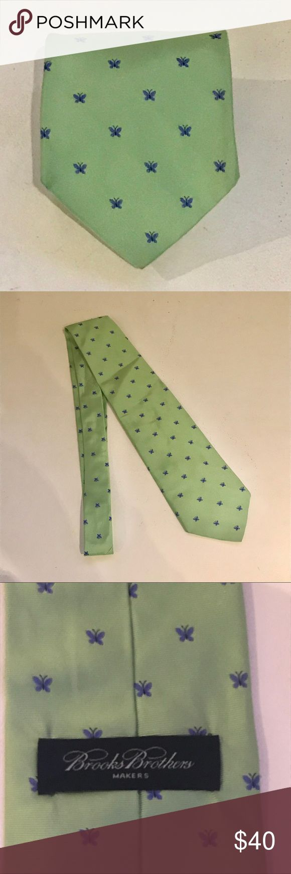 Brooks Brothers Mint Silk Cerulean Butterfly Tie Brooks Brothers Mint Seafoam Green Silk Cerulean Butterfly Tie. Excellent condition no issues Brooks Brothers Accessories Ties