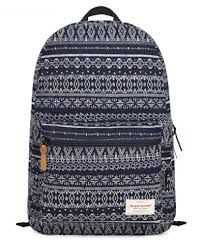 Image result for black and white aztec backpack