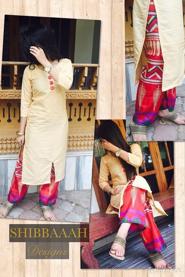 LOVE THIS OUTFIT U also wear printed leggings with long kurti