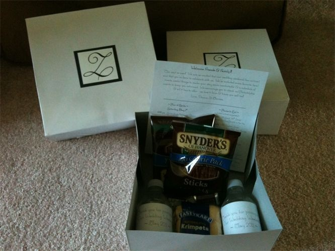 Philadelphia Wedding Gift Bag Ideas : ... Philadelphia themed - www.MLEvents.us Welcome Bags, Boxes & Gifts
