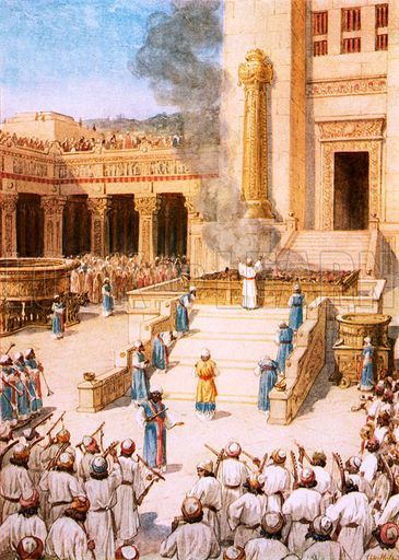 Solomon's dedication of the Temple.