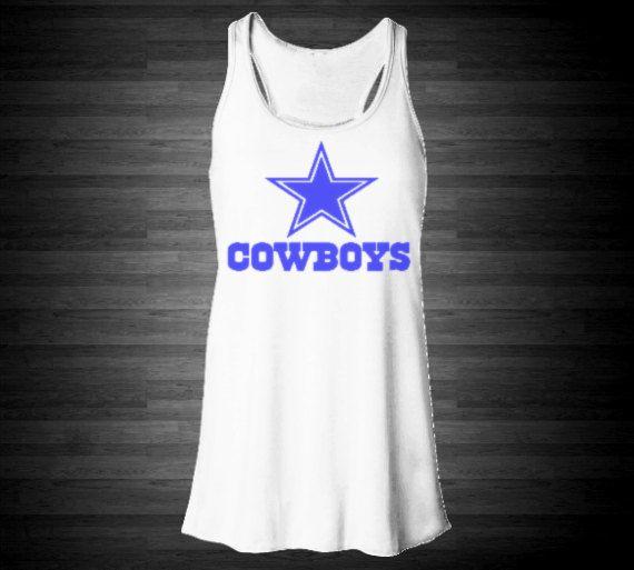 Dallas Cowboys Soft Racerback Tank For Women In White