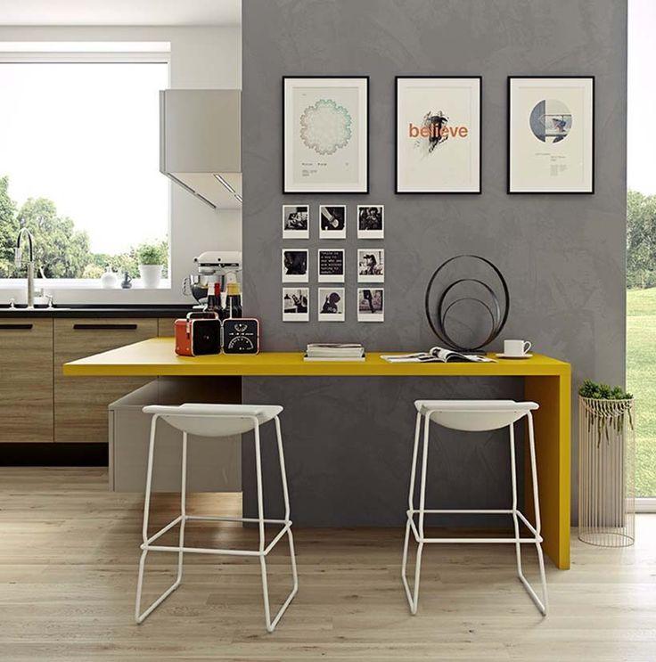 hermosa cocina abierta con mucho estilo el suelo de madera combina