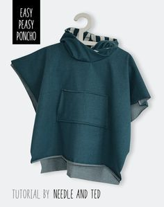 poncho tutorial by Needle and Ted