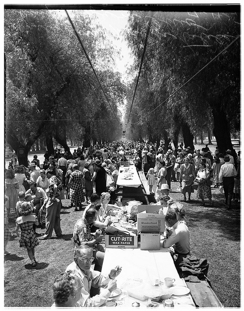 """All States Picnic"", Euclid Ave, Ontario, CA - 1951"