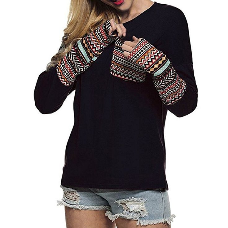KuoShun Clearance Women Girls Fashion Autumn Winter Long Sleeve Patchwork Crew Neck Sweatshirt (L, Black) at Amazon Women's Clothing store: https://www.amazon.com/KuoShun-Clearance-Fashion-Patchwork-Sweatshirt/dp/B076P6HBYL/ref=as_li_ss_tl?s=apparel&ie=UTF8&qid=1515702863&sr=1-99-spons&nodeID=7141123011&psd=1&keywords=women+winter+clothes&psc=1&linkCode=ll1&tag=milan123-20&linkId=9561f3524a7fef16bf30f947a70de1ed