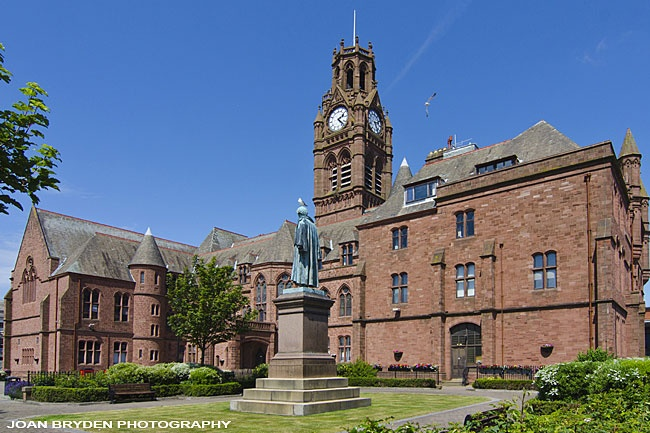 Barrow in Furness Town Hall Courtyard