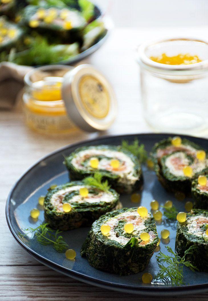Lækker og nem lakseroulade med spinat - perfekt til forret og gæstemiddage og også skøn til en god frokostret - få opskrift her