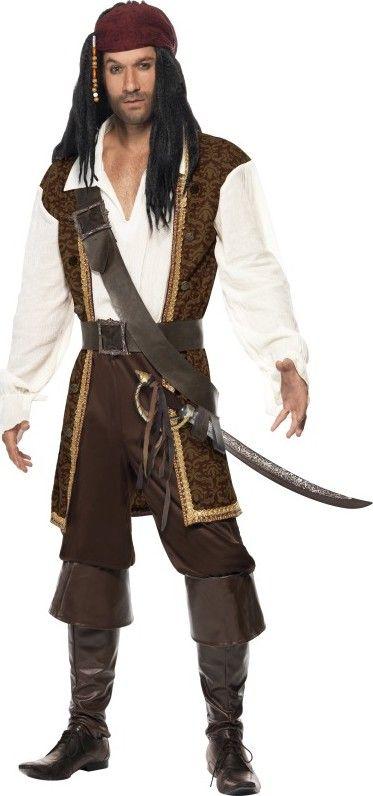 disfraz pirata marrn hombre