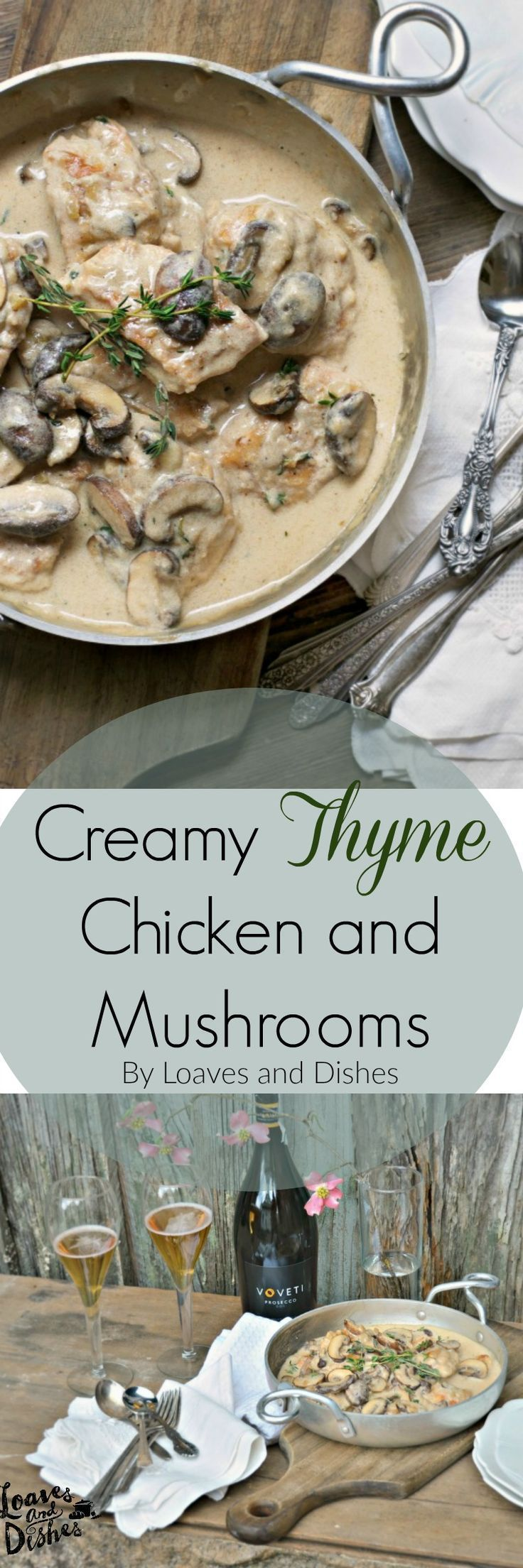 Easy and Fast upscale just for company dinner with chicken and mushrooms #VOVETI #CleverGirls #ad