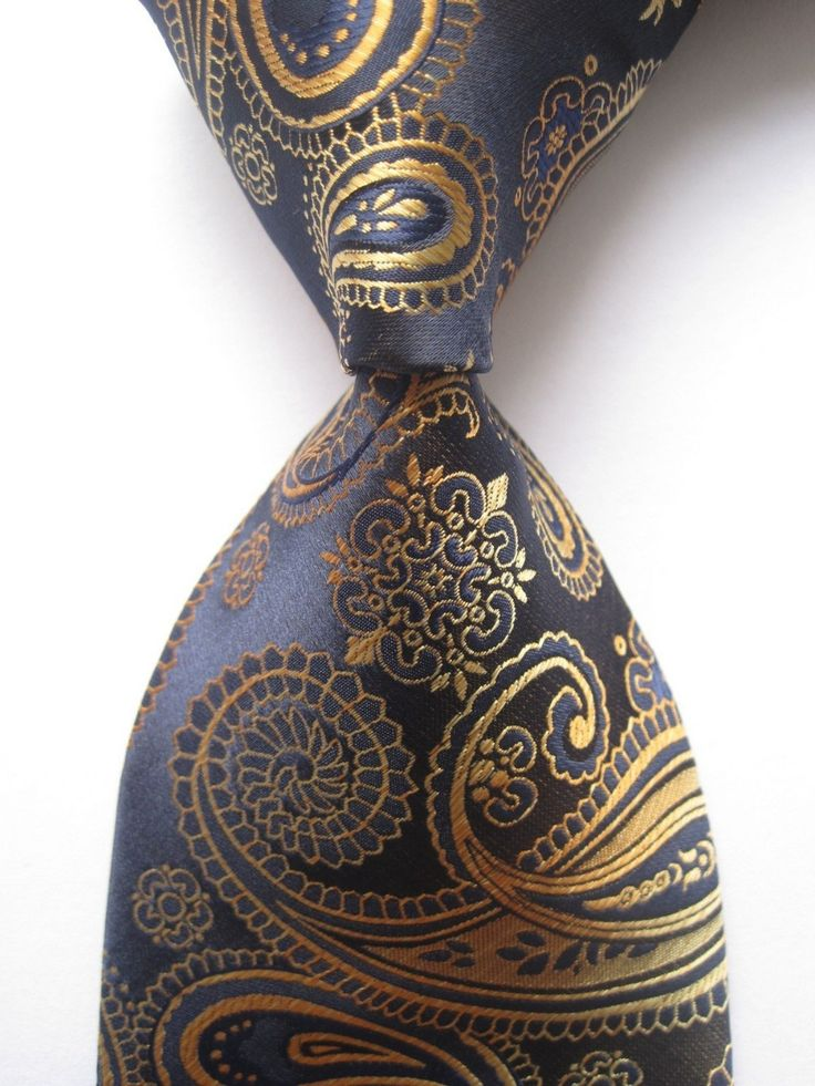 New Classic Paisley Blue Gold JACQUARD WOVEN 100% Silk Men's Tie Necktie SN54-in Ties from Apparel & Accessories on Aliexpress.com $5.51 (free shipping; delivery 15-26 days)