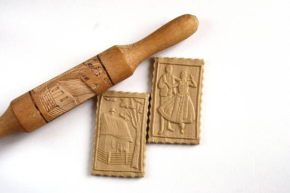 Embossing Rolling Pin Kitchen Decor Home Decor Rustic Baking