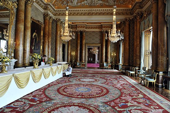 The Blue Drawing Room Buckingham Palace