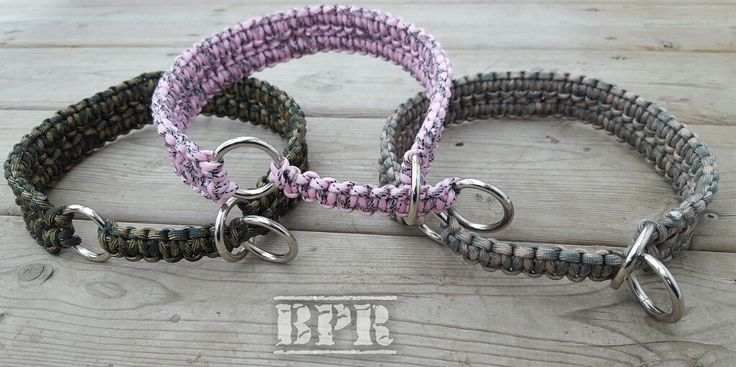 Martingale Double Cobra Paracord Rope Dog Collar 550 Paracord Custom by BrodsParacord on Etsy