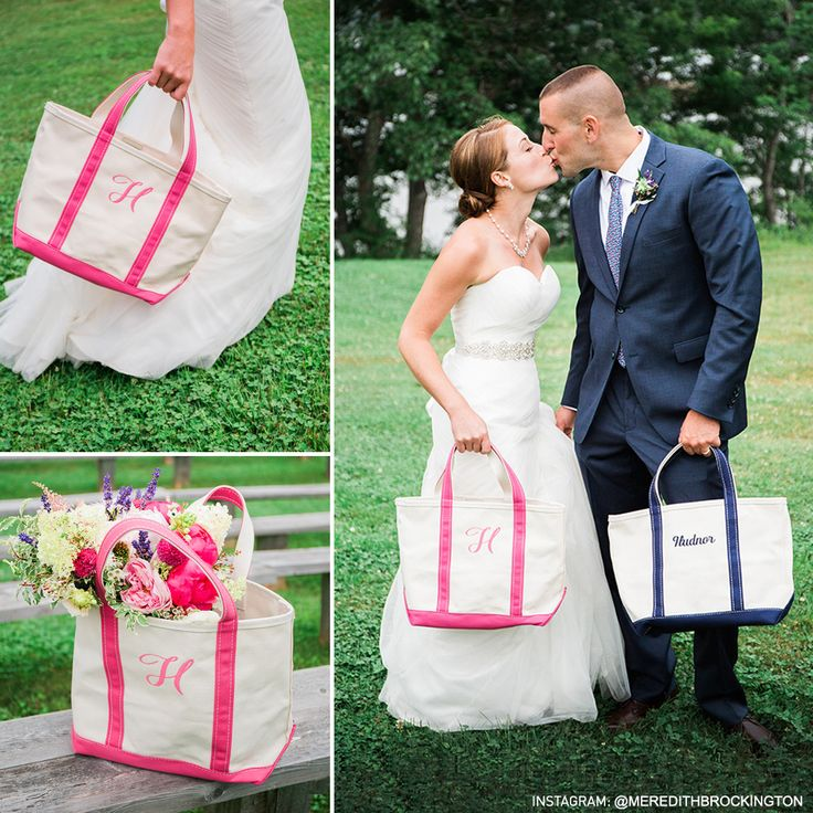 Congratulations and best wishes to newlyweds Justin and Lindsay Hudnor, who got married in July at Marianmade Farm and included L.L.Bean Boat and Tote Bags in the festivities. (Photos: Meredith Brockington Photography)