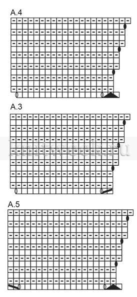 Джемпер летние листья - Схема 3
