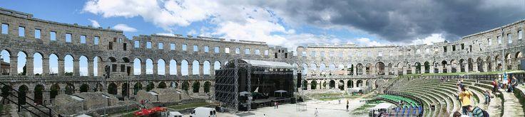 Unter Kaiser Augustus erbautes römisches Amphitheater in Pula // Amphitheater Pula innen ◆Kroatien – Wikipedia http://de.wikipedia.org/wiki/Kroatien #Croatia