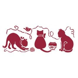 stencil gatti e gomitoli