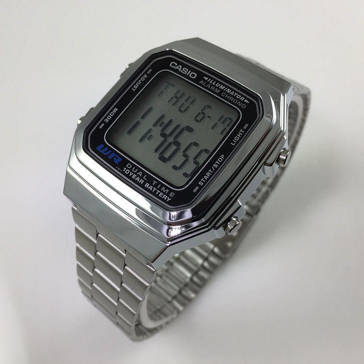 Mens Casio Classic Digital Steel Band Watch A178WA-1AV