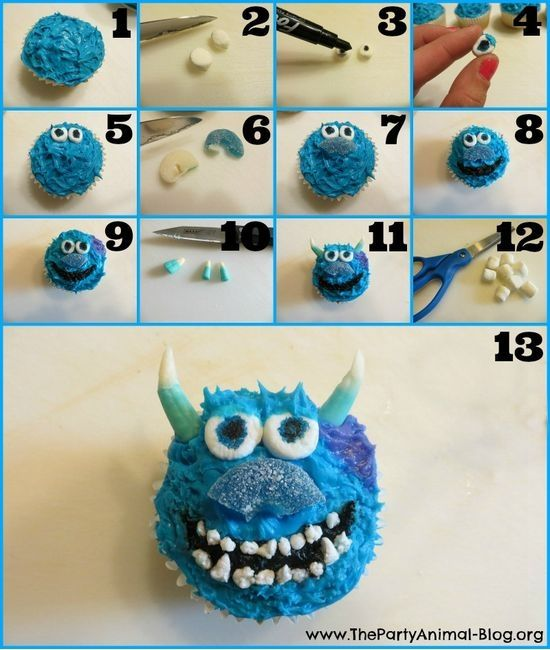Sully Cupcakes |  #cupcakes #Sully