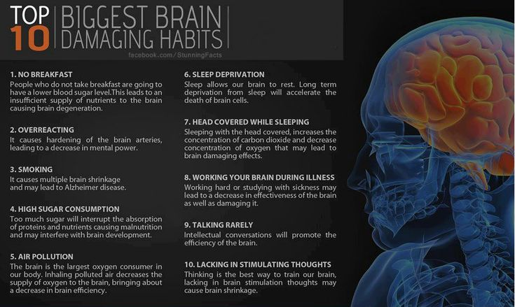 Top 10 biggest brain damaging habits