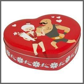 Blafre stoere hartjesdoos rood - be me Valentine box heart