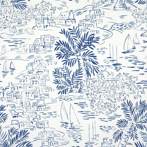 Homeport Novelty - Marine - Volume XIV - Wallcovering - Products - Ralph Lauren Home - RalphLaurenHome.com
