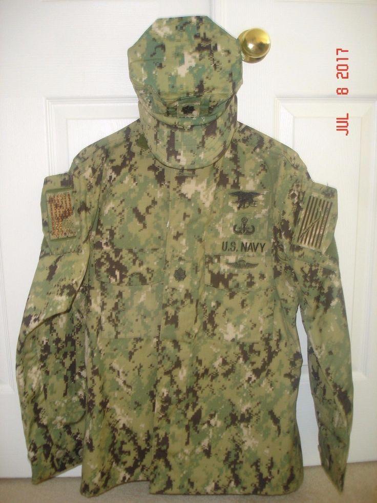 Aor2/nwu-iii/us Navy Uniform Set. Cdr/o5, Seal, Eod Warfare & Jump Wing