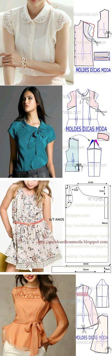 MOLDE DE BLUSA