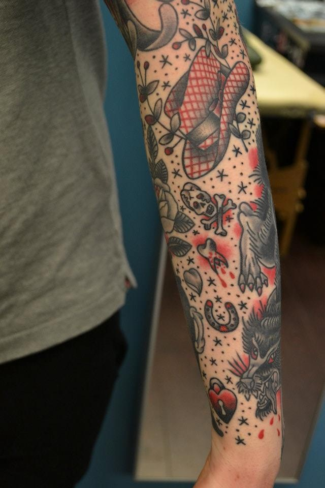 by Kenny Mitchell - old school tradicional tattoos - tattoo flash