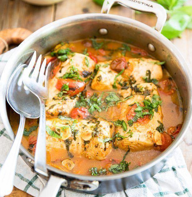 Изображение рецепта Томлёная рыба с помидорами