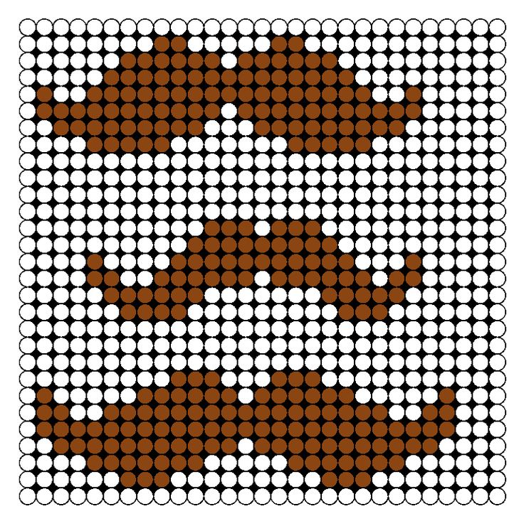 Mustaches Perler Bead Pattern | Bead Sprites | Misc Fuse Bead Patterns