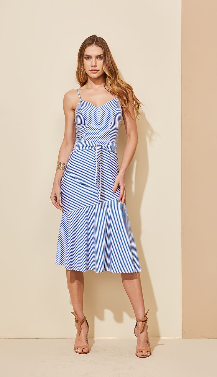 VESTIDO TRICOLINE LISTRAS - VE29365-31 | Skazi, Moda feminina, roupa casual, vestidos, saias, mulher moderna