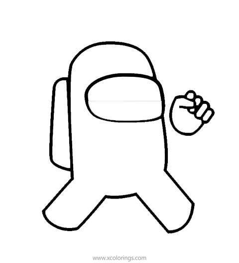 Astronaut From Among Us Coloring Pages Coloring Pages Color Free Coloring Pages