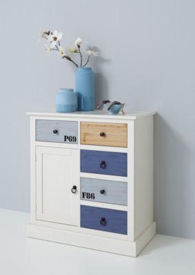 Sideboard weiss/ blau lackiert Jetzt bestellen unter: https://moebel.ladendirekt.de/wohnzimmer/schraenke/sideboards/?uid=a5584750-f5d4-5576-9235-2866cb79f309&utm_source=pinterest&utm_medium=pin&utm_campaign=boards #schraenke #wohnzimmer #sideboards