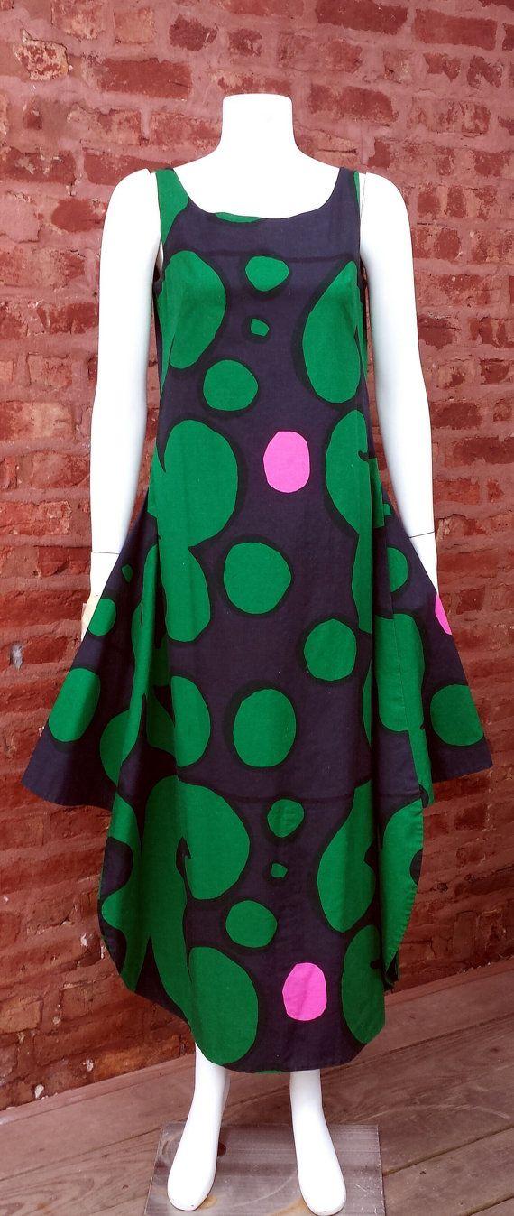 Vintage 1967 Marimekko Finland Dress Swirl Pattern by magicalbee, $425.00
