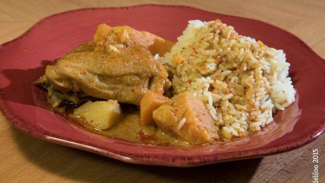 """- Plat / Viande - Yohann de Vicq-sur-Breuilh vous propose sa recette de """"Mafé de poulet""""."""