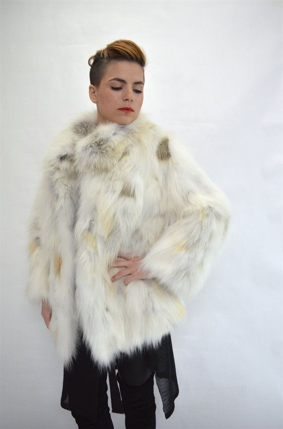 Real white fox fur coat golden island fox fur coat by BeFur