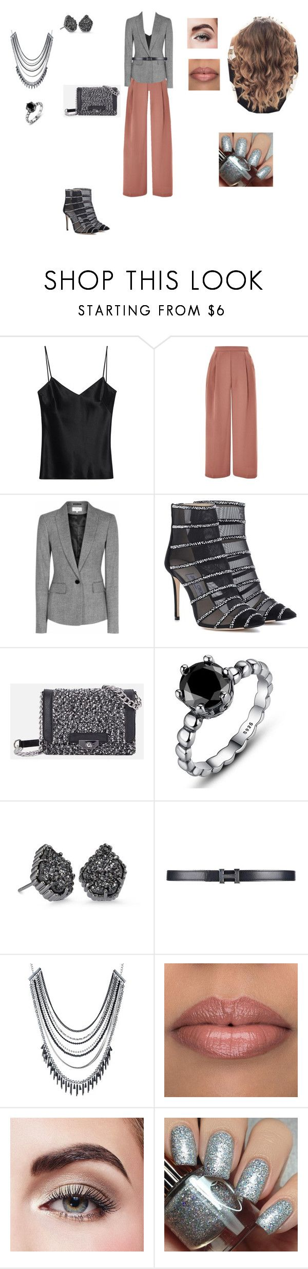"""chic outfit"" by helena94-1 on Polyvore featuring Galvan, Topshop, Reiss, Jimmy Choo, JustFab, Kendra Scott, ABS by Allen Schwartz, Avon, Dimepiece and polyvorefashion"