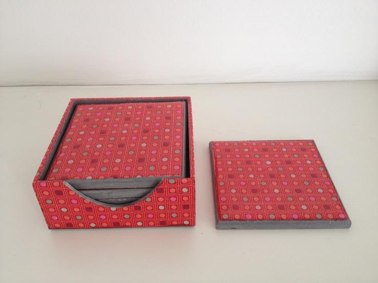 Posavasos en decoupage con servilleta Decoupage coaster   Porta copos em decoupage com guardanapo