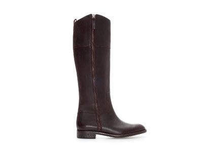 ZARA - NEW THIS WEEK - FLAT LEATHER BOOT