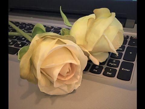 Роза из велюра - YouTube