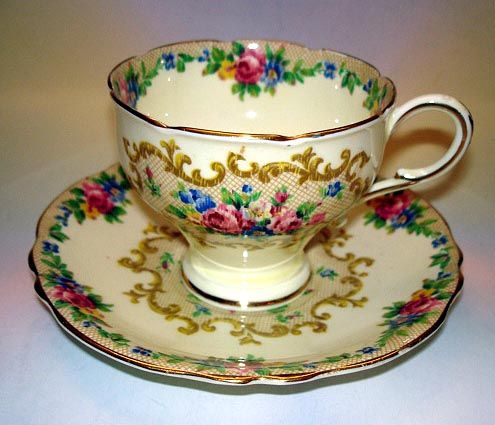 "Pretty ""Minuet"" on Cream Paragon Cup Saucer | eBay"