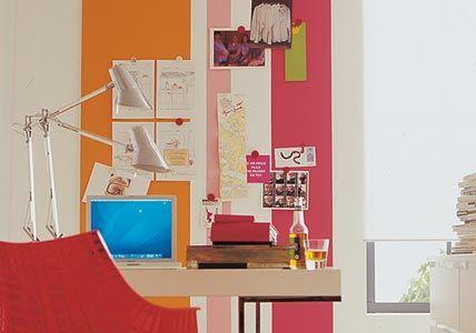 Pinnwand aus Magnetfarbe + Wandfarbe - Selber machen: Pinnwand - [LIVING AT HOME]