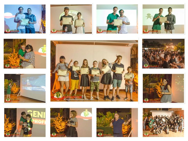 """Graduation Day 6-30-17  """"Learning is like rowing upstream, not to advance is to drop back."""" – Chinese Proverb  Congratulations graduates! We are so proud of you Ismail, Kanako, Yu, Yun, Satoe, Ryuji, Maksim, Vlad, Filipp, Ivan, Iuliia, Daria, and Mariia.  Thank you for studying with us guys. We would like to thank our teachers for their very nice presentation and also to teacher Gee for her awesome voice.  We hope to see you soon. :-)  Website: www.studyenglishgenius.com Russian website…"""