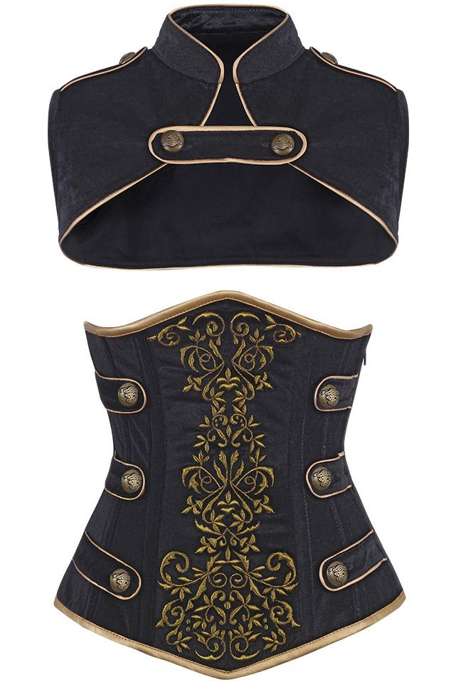 The Violet Vixen - Royal Guard Black Corset, $141.00 (http://thevioletvixen.com/corsets/royal-guard-black-corset/)
