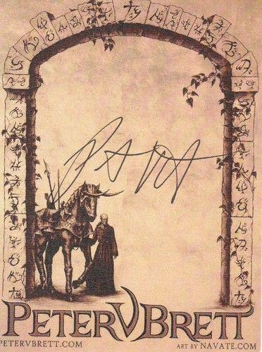 Autogrammkarte Peter V. Brett