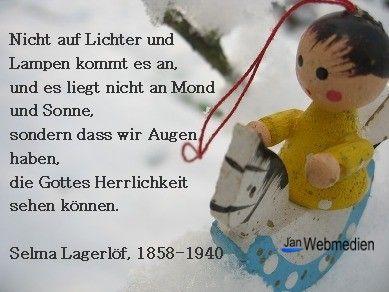 Adventsgedicht, Weihnachtsgedicht, Selma Lagerlöf