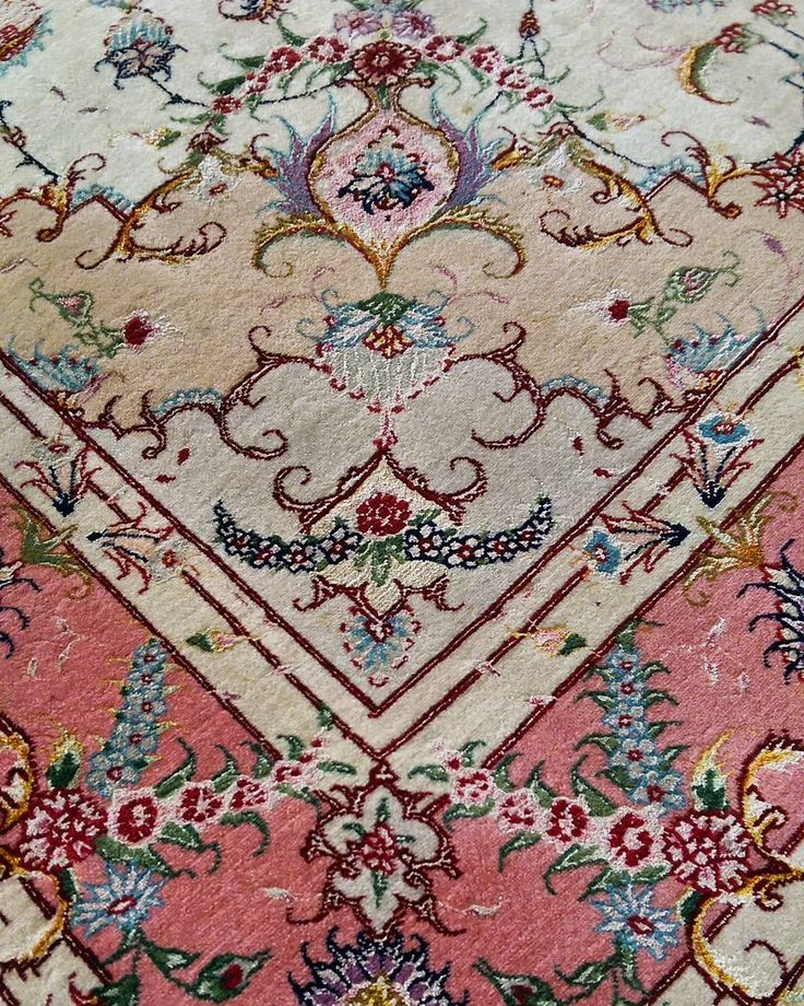 Love the calming pastel tones in this fine Persian Tabriz!  #persian #rug #rugs #pastel #tabriz #pink #gold #jewel #traditional #ihavethisthingwithrugs #ihavethisthingwithfloors #sydney #Rozelle #interiors #decor #interiordesign #floral