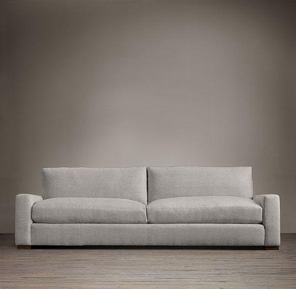 Maxwell Upholstered Sleeper Sofa In Brushed Belgian Linen